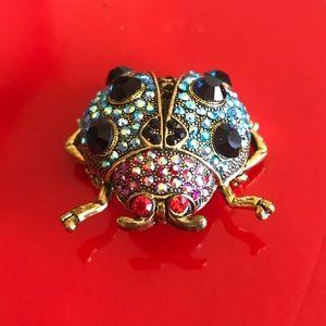 Cara NY Vintage Jewel Ladybug Brooch